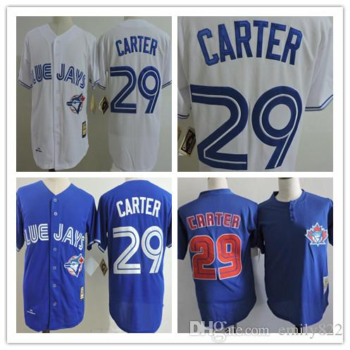 reputable site 01150 d845f mens toronto blue jays 29 joe carter blue new cool base jersey