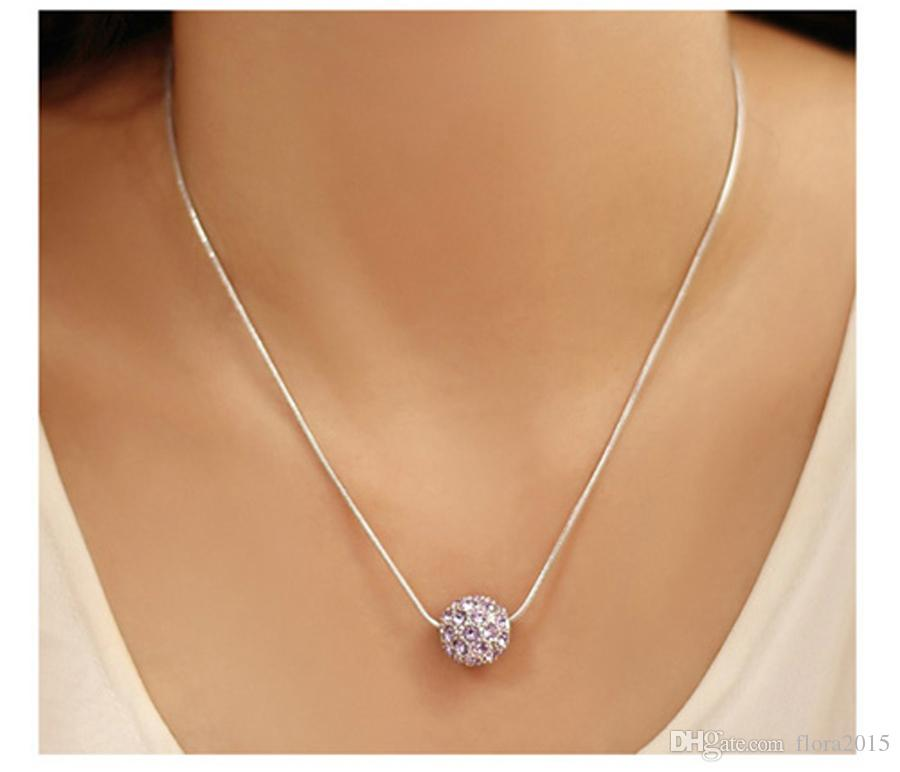 New Fashion Jewelry Set Crystal From Swarovski Round Ball Pendant Necklace Stud Earrings For Women Weddings Jewelry