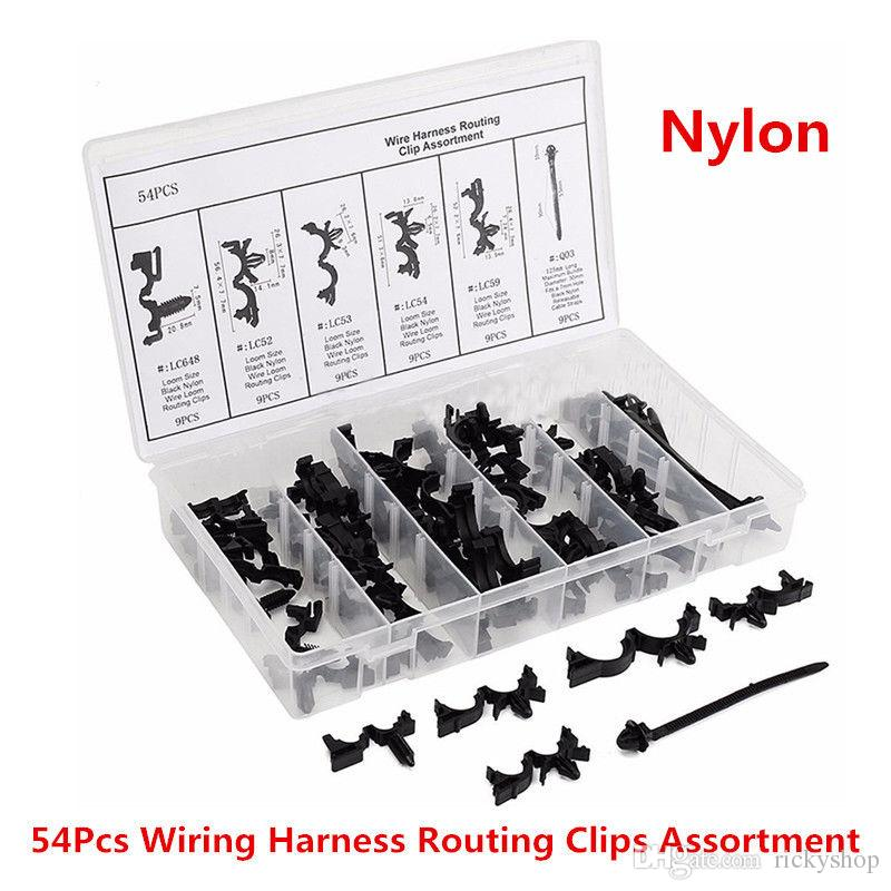 54x Car Nylon Assortments Retainer Mould Harness Wire Loom Routing ...