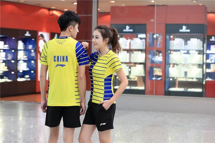 New 2016 Li-Ning Table Tennis Sportswear Table Tennis Shirts Sports Jersey Women Men Sportswear Badminton T-Shirts Baseball Jeresys