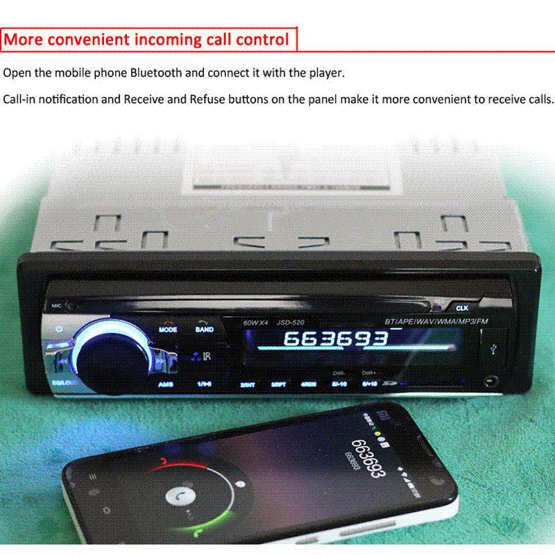 Großhandel 12v Auto Radio Mp3 Audio Player Bluetooth Aux Usb Sd Mmc ...