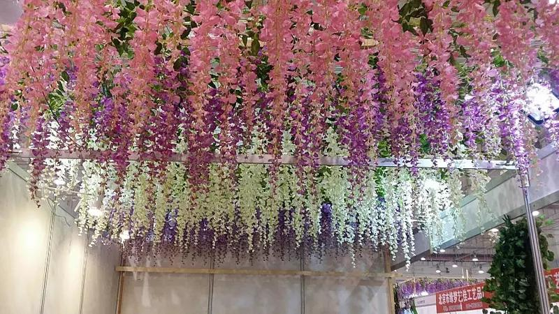 110cm Wisteria Wedding Decor Artificial Decorative Flowers Garlands for Party Wedding Home For Free DHL Shipping