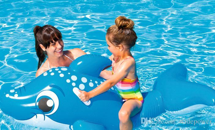 kids Inflatable Pool Float Raft Boat Summer Outdoor Swimming Pool Party Lounge Raft Ride-On Water Toys WD201