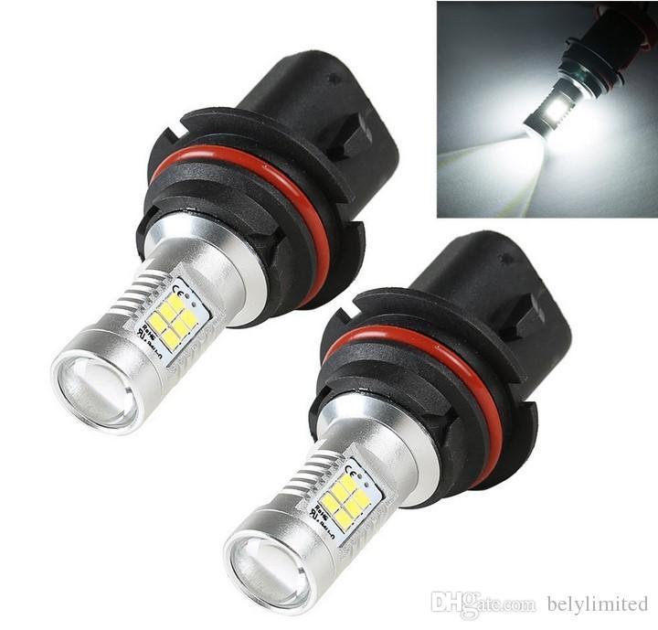 Горячие Продажи Супер Яркий Белый 9007 HB1 21 LED 2835 SMD Авто Противотуманные Фары DRL Свет Фар Лампы Лампы DC12-24V