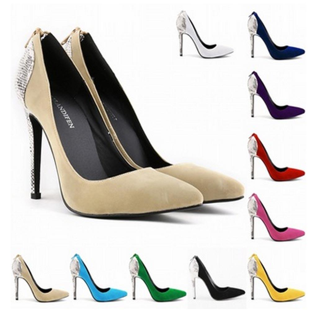 Chaussure Femme Womens Faux Velve Sexy High Heels Pointed Toe Corset Snake  Zipper Pumps Court Wedding Shoes US Size 4 11 D0053 Basketball Shoes Mens  Shoes ... 8b03dc3407ef