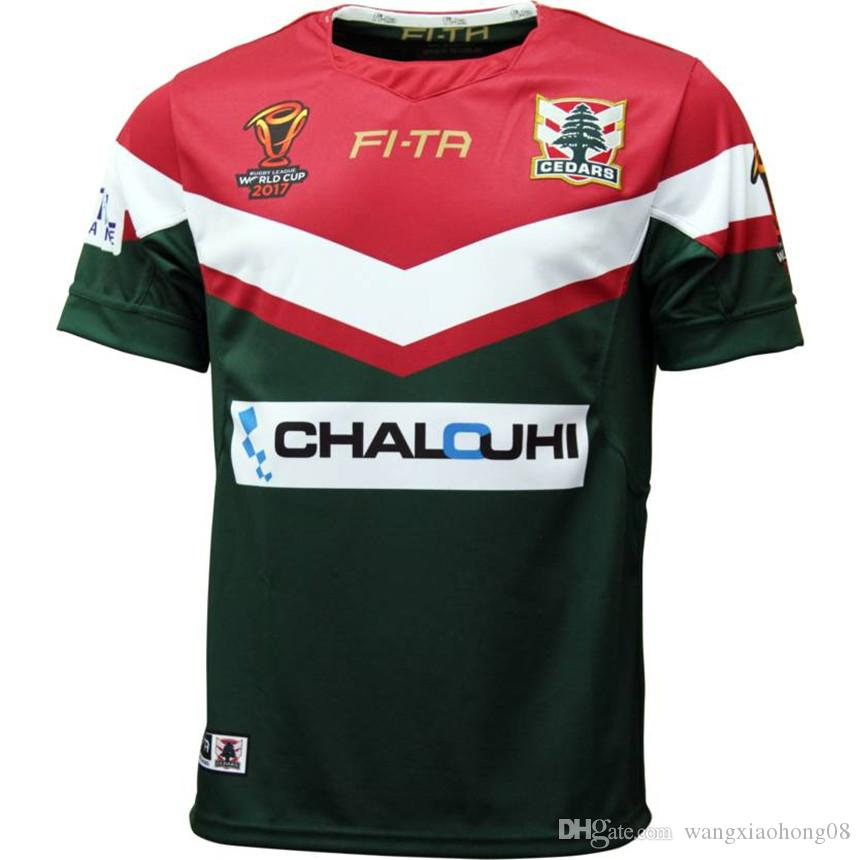 92ca6107f21 2019 RLWC 2017 MENS LEBANON JERSEY League World Champions In 2017 LEBANON  2017 WORLD CUP HOME JERSEY New Zealand LEBANON Rugby Size:S M L XXL 3XL  From ...