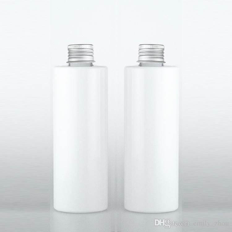30 sztuk 250ml White Brown Clear Kosmetyczna butelka z tworzywa sztucznego, 250CC jasna woda skóry, rosa kąpieli, pojemniki szamponowe Bezprzewodowe butelki kosmetyczne