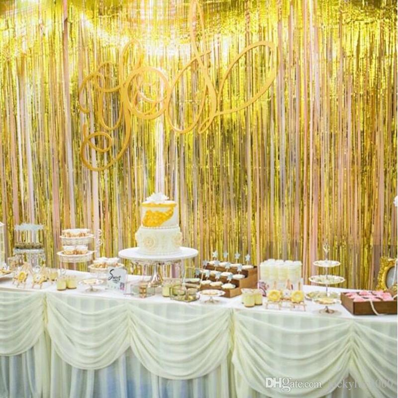 New Colorful Ribbon Wedding Birthday Party Backdrop Centerpieces ...