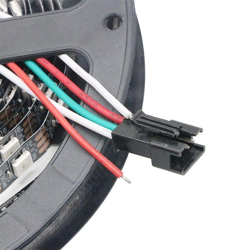 DC5V 5 메터 WS2812b WS2812 LED 스트립 스마트 RGB 5050 풀 컬러 픽셀 IC Ditigal 개별적으로 주소 지정 가능한 방수 테이프 빛