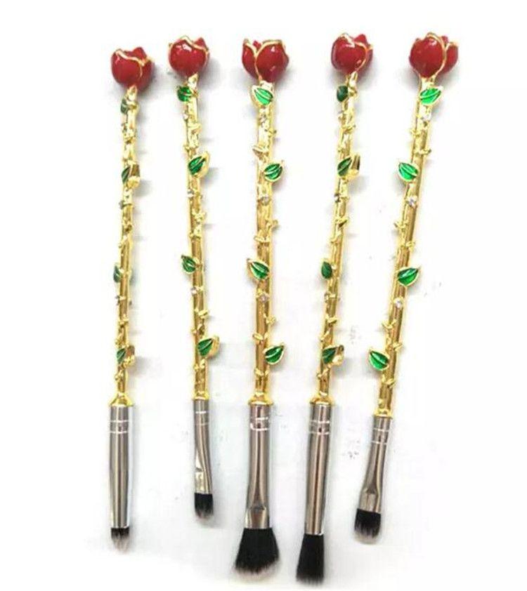 메이크업 브러쉬 세트 여러 가지 빛깔의 장미 꽃 모양 메이크업 재단 화장품 파우더 브러쉬 무료 브러시 메이크업 도구 DHL A08