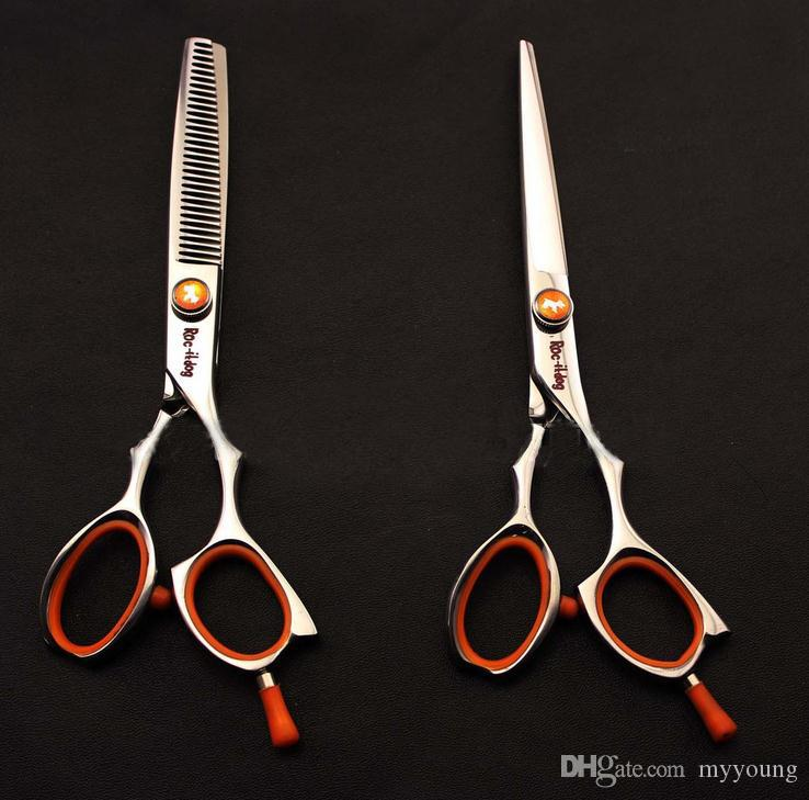 6 Inch Hairdressing Scissors Roc-it Dog Stainless Steel Professional Cutting Thinning Shears .