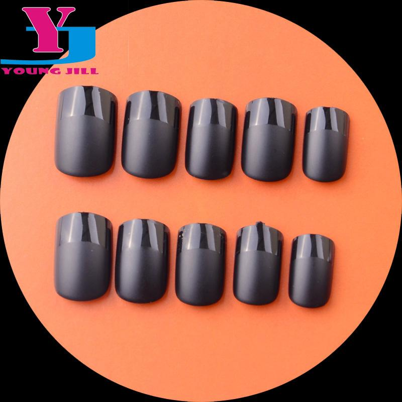 Wholesale New Fashion French Manicure Acrylic Fake Nail Tips Matte ...
