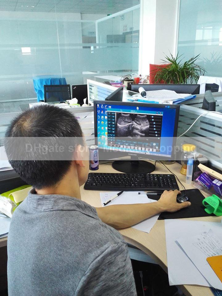 La sonda ultrasónica USB + software de ultrasonido, escáner de ultrasonido conecta cualquier base de computadora o tableta en el sistema de Windows