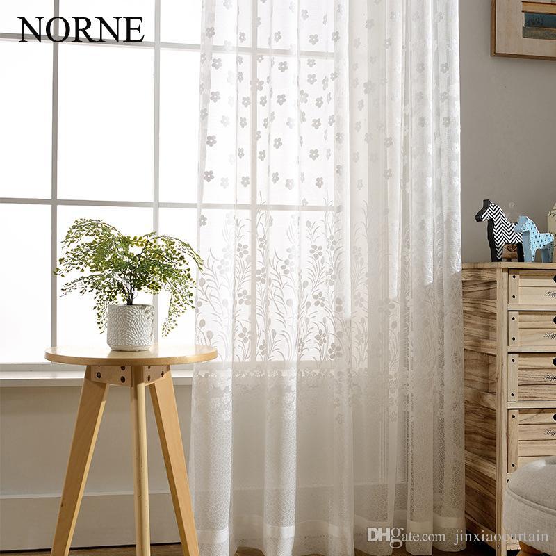 Acheter Norne Moderne Rideaux En Tulle De Fenetre Pour Le Salon La