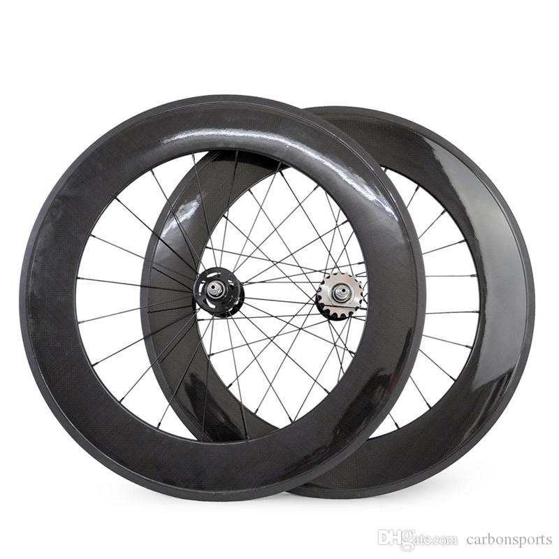 New Arrival 23mm Width 88mm Front 88mm Rear Fixed Gear Track Bike Carbon Bicycle Clincher/Tubular