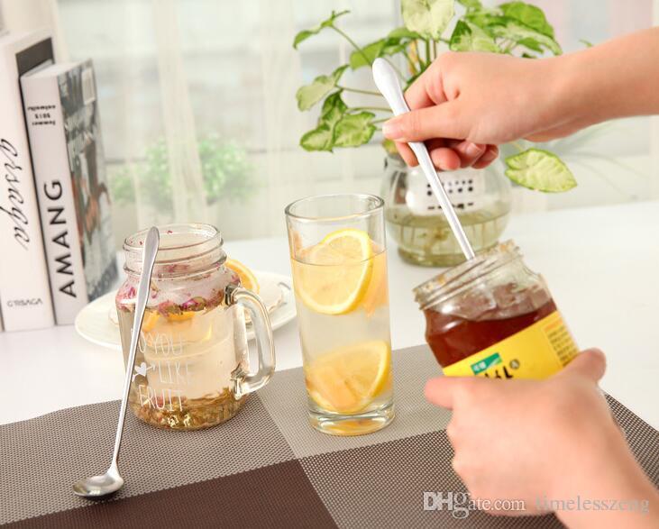 Creativo zucca mestolo Acciaio inossidabile manico lungo cucchiaio di miscelazione Caffè scoop coreano di gelato