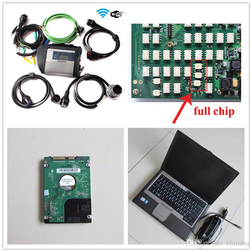 MB SD Connect 4 MB Star C4 2019.12 DAS XENTRY with Laptop D630 Software multi-languages ready to use