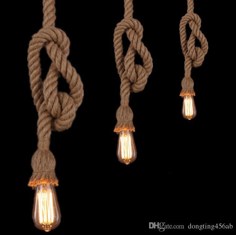 Vintage Rope Pendant Light Lamp Loft Creative Personality