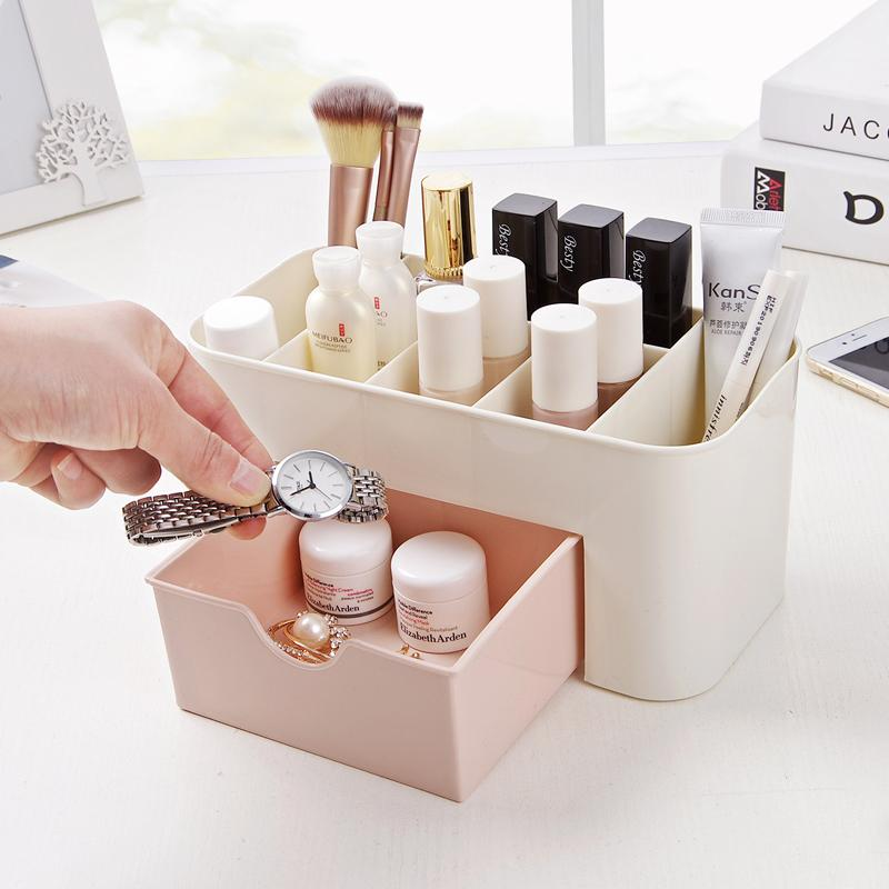 Online Cheap Cosmetic Jewelry Organizer Office Storage Drawer Desk