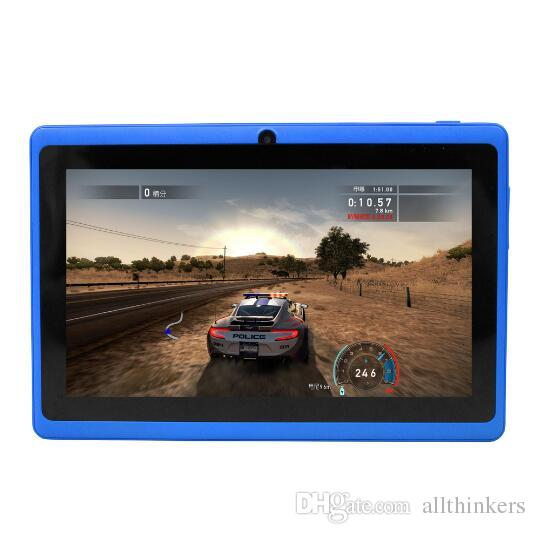 7 inch android tablet pc Q88, A33, Quad Core, DDR3 512MB ROM 4GB Wifi dual Camera, free shipping