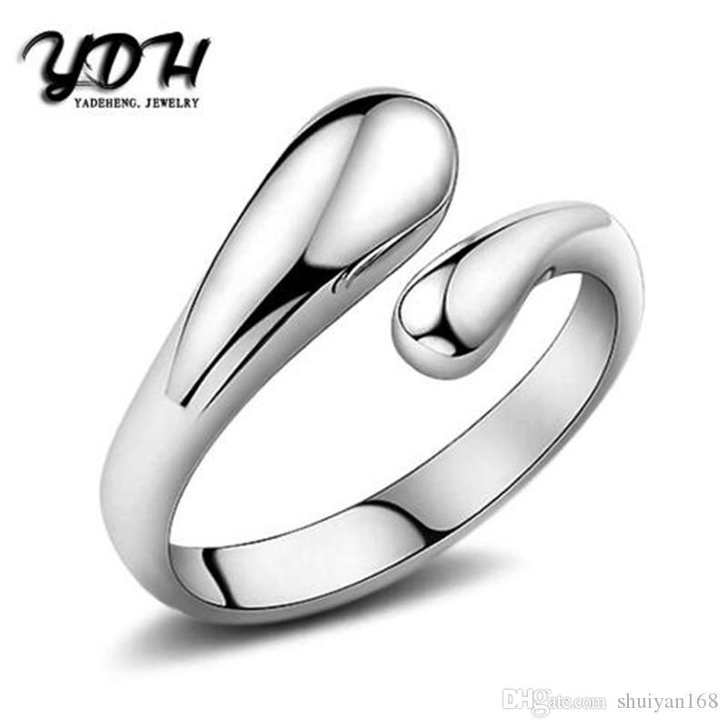 fd24bd5b455b Cute 925 Sterling Silver Fashion Women Wedding Gift Drop Open Ladies  Beautiful Cute Pretty Ring Charm Jewelry Fashion Open Ring Charm 925  Sterling Silver ...