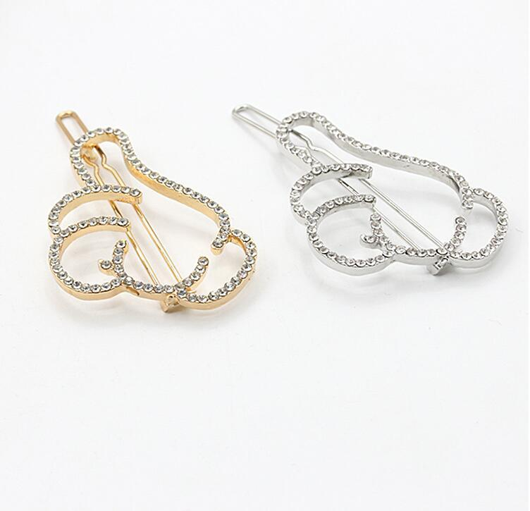Crystal Hair Pins Hairclips Women Girls Hair Jewelry Accessories Golden Rhinestone Alloy Finger Hair Clips Hairpins