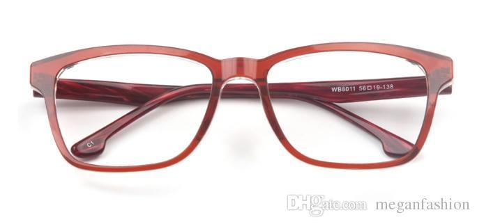 eabb035f79 Rectangle Retro Women Glasses Fashion Red Full Frame Eyewear for ...