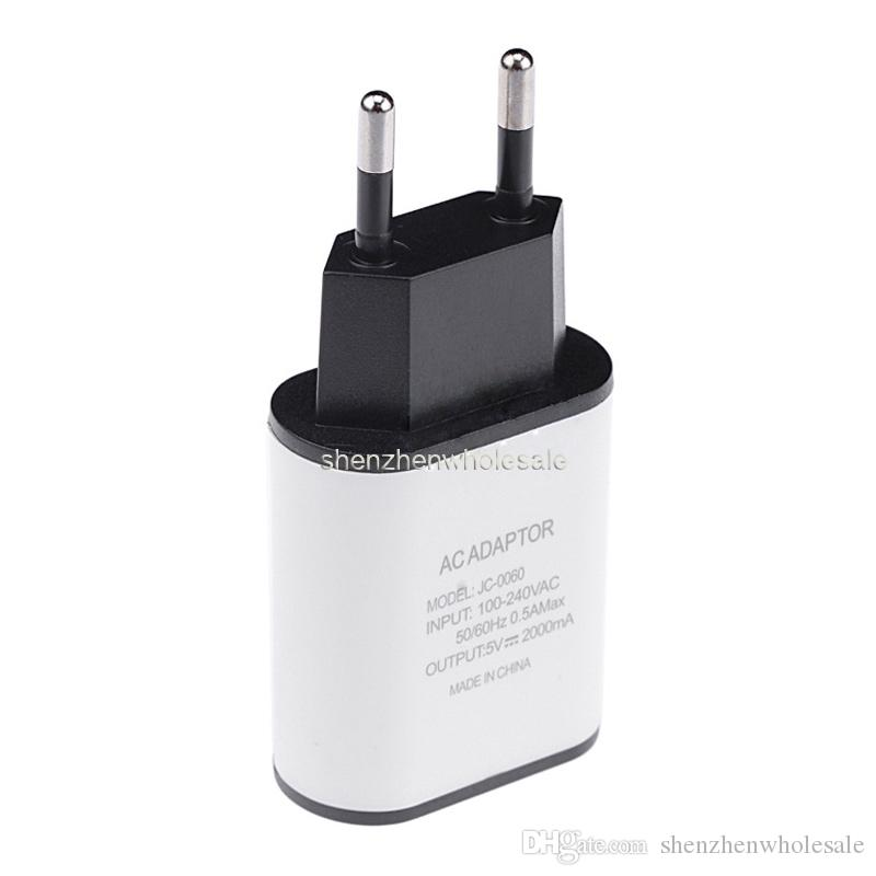 New Portable EU/US Plug 5V 2A Quick Charge Wall Travel Mobile Phone USB Charger Adapter For Smart Phone Cell Phone Samsung LG HTC