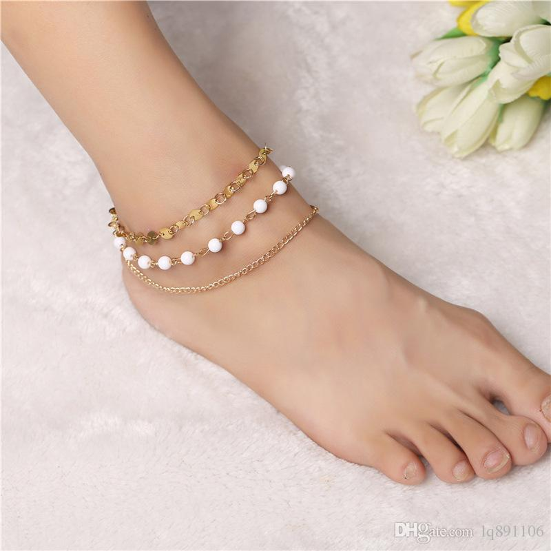 in from item tornozeleira anklet gold bracelets women tobillera bracelet chain ankle anklets unique for simple jewelry leg foot