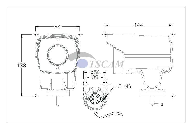 new DM-SCB415IP-C13 HD 1080P 2.0MP Bullet IP Camera 2.8-12mm 4X Lens Optical Zoom MINI PTZ Camera CCTV Security IR Pan Tilt P2P