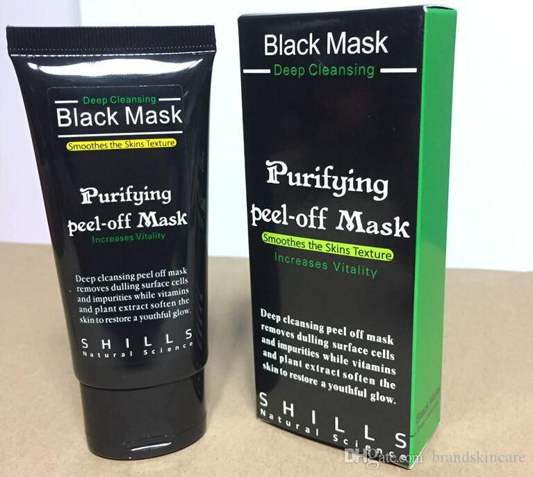 Black mask Suction blackheads removers collagen facial mask 50ml Deep Cleansing purifying peel off Black face mask Peel Masks