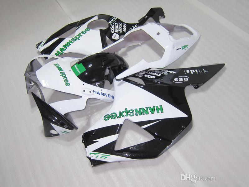 Hot sale plastic fairing kit for Honda CBR900RR 02 03 white black fairings set CBR 954RR 2002 2003 OT16