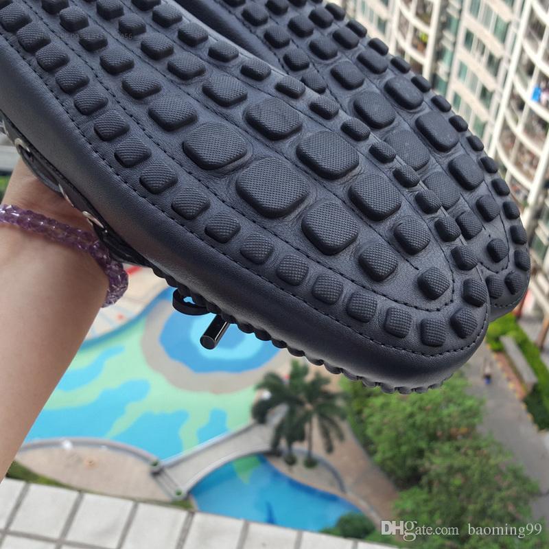 Heiße Verkäufe Beste Qualität Echtes Leder Herren Loafers Designer Flache Weiche Lederschuh Männer Freizeitschuhe Luxus Designer Breatha Bootsschuhe 40-45