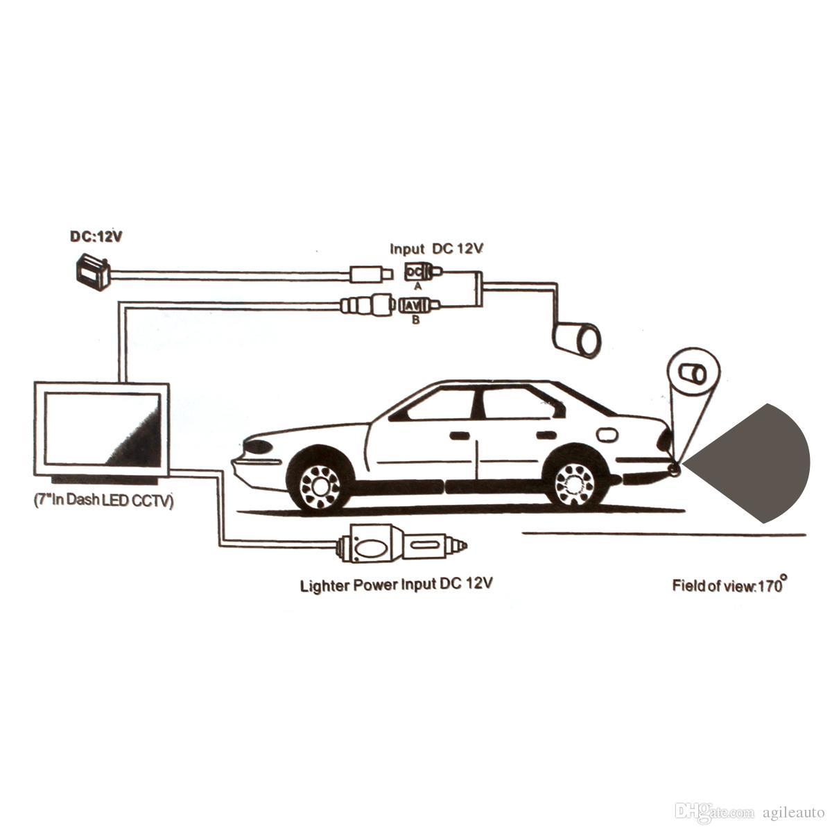 Macchina fotografica impermeabile di parcheggio di retrovisione della macchina fotografica di retrovisione dell'automobile di visione notturna di ampio angolo di visione notturna di 170 gradi i veicoli CAL_00S
