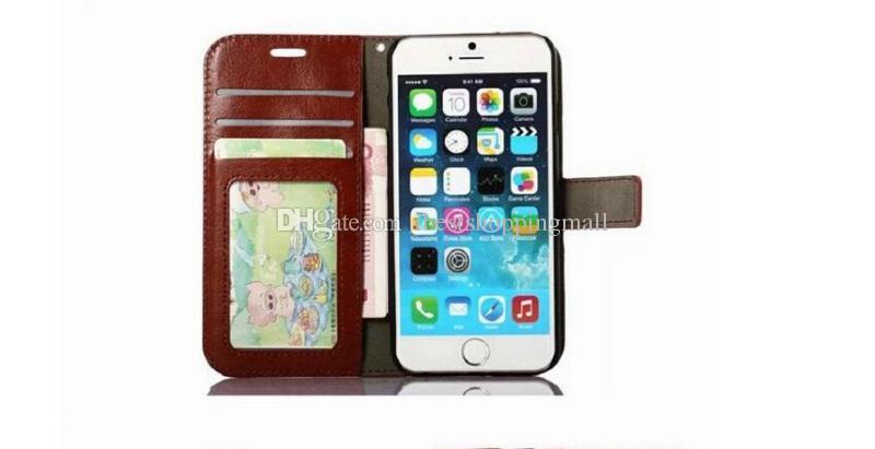 Portefeuille en cuir PU de bonne qualité avec étui pour 3 cartes et cadre photo pour iPhone X 8 7 6 6S Plus Saamsung S7 edeg S8 Plus