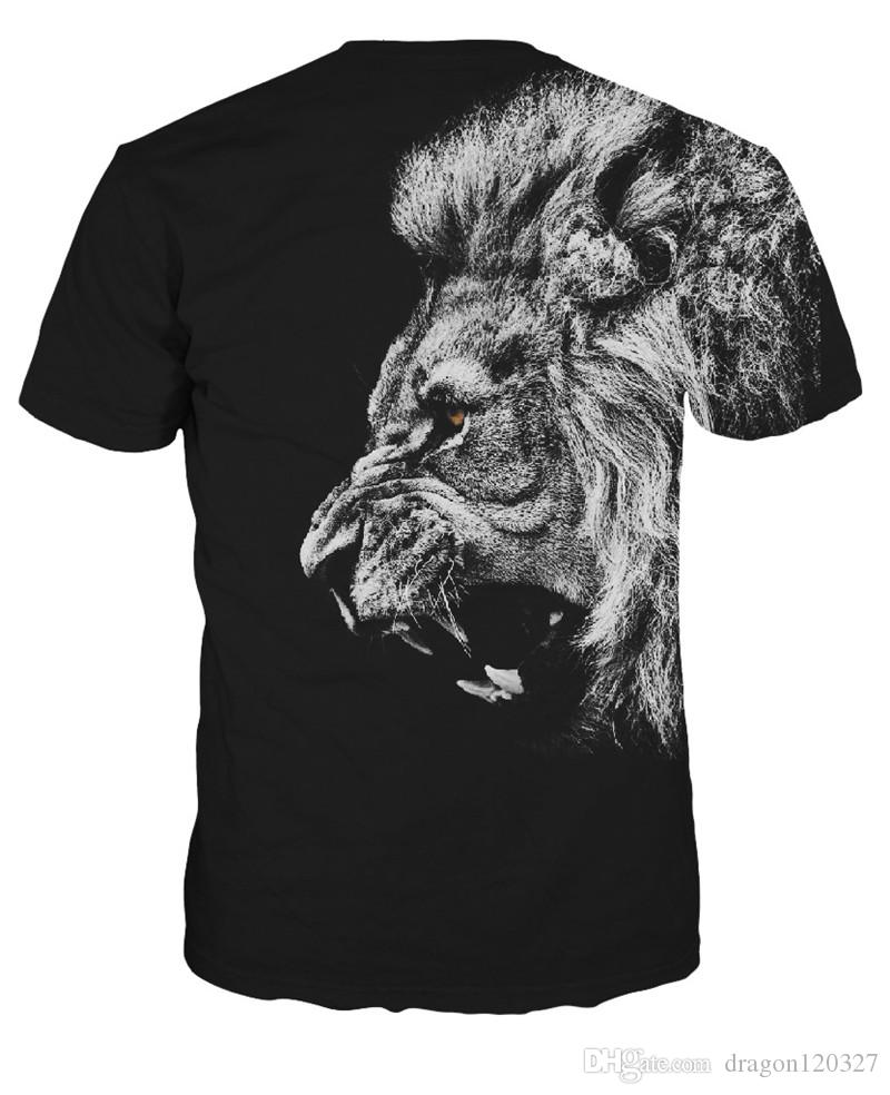 Wolf 3d Printed T Shirts Men Compression T Shirts Short Sleeve ...