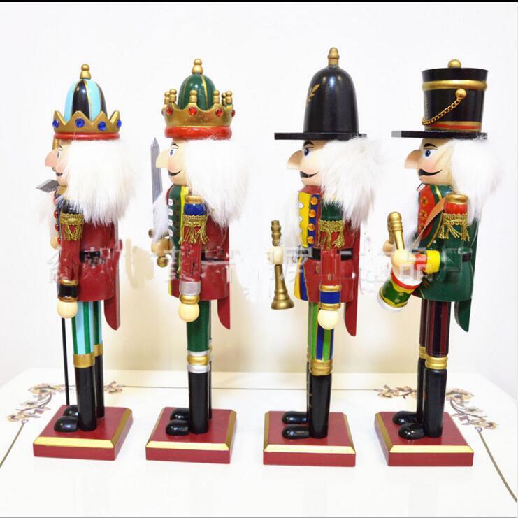 30cm Nussknacker-Marionettensoldaten Hauptdekorationen für Weihnachtskreative Verzierungen und Feative und Parrty Weihnachtsgeschenk