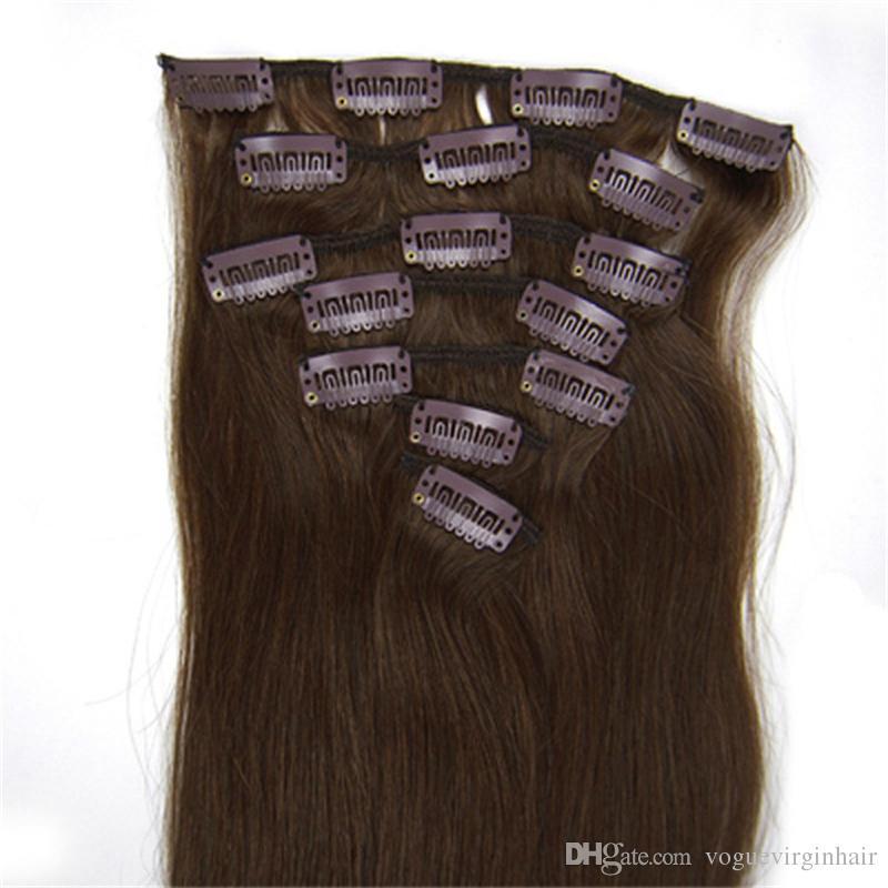 인간의 머리카락 연장에 더블 위빙 클립 # 4 헤어 인간의 머리 클립 연장에 무료 배송