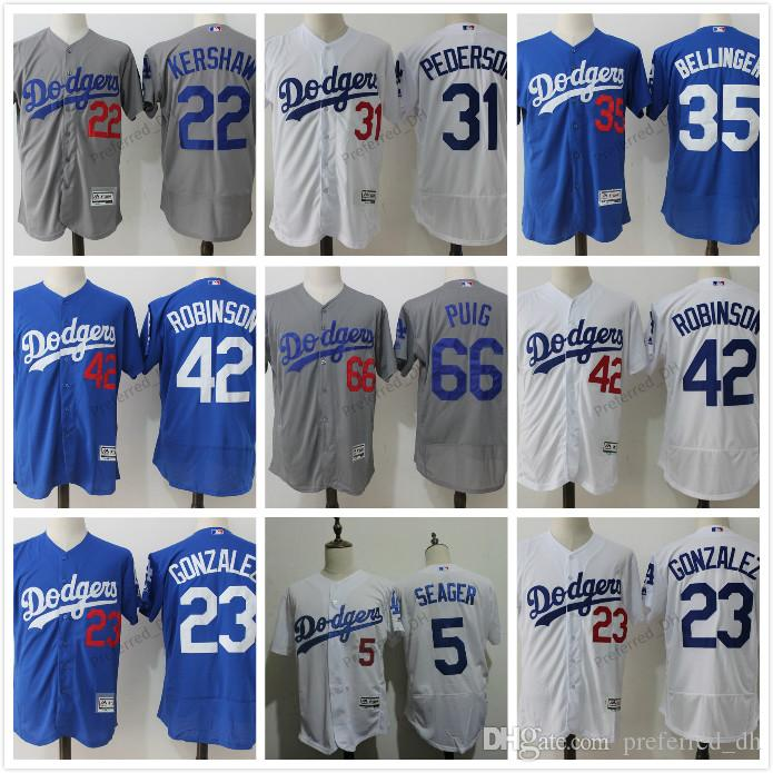 99dcead569e ... Throwback Stitched MLB Jersey 2017 Mens L.A. Los Angeles Dodgers Jackie  Robinson White Gray Flexbase Jersey