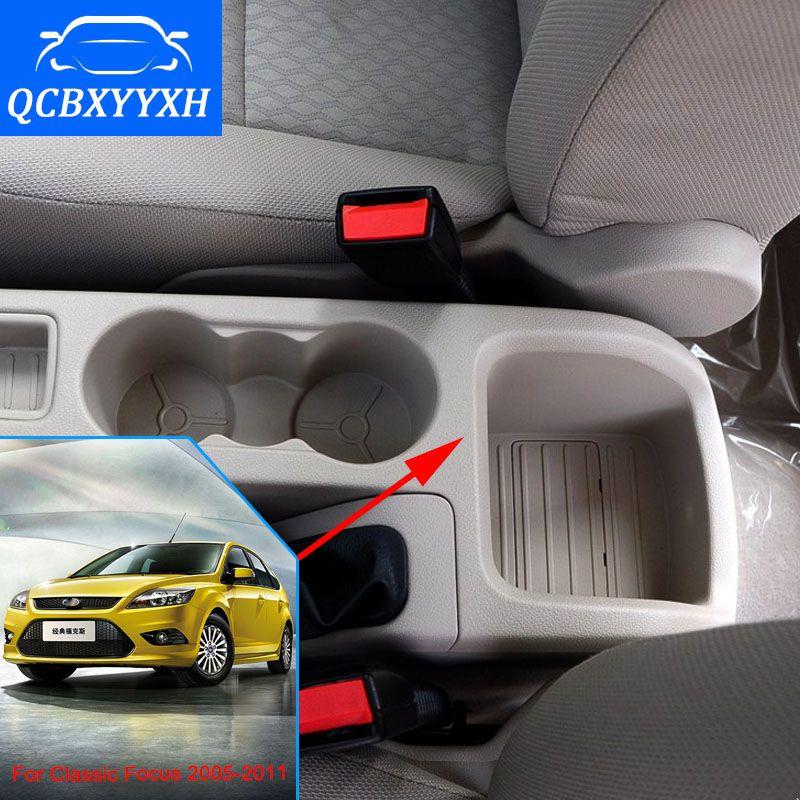 Okładka Forda Classic Focus 2005-2011 Box Podłokietnik Central Store Content Box Holder Puchar Wnętrze Produkty do stylizacji samochodów