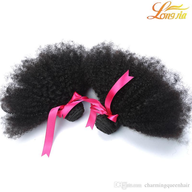 Brasileira Virgem Encaracolado Kinky Curly Virgem Cabelo 8-20 polegadas Extensão Do Cabelo Humano apertado Afro Crespo Encaracolado cabelo Tecer Frete Grátis