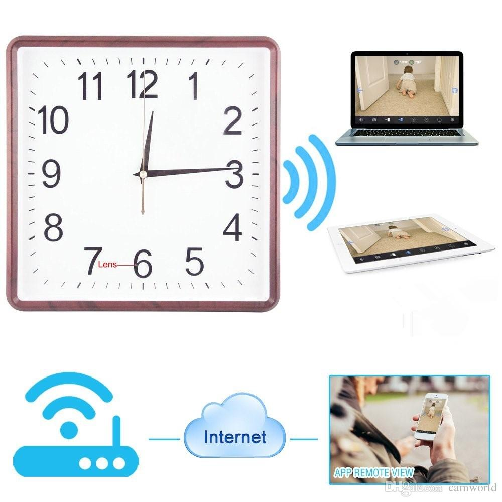 720p wifi hd spy hidden ip camera wall clock video recorder motion see larger image amipublicfo Images