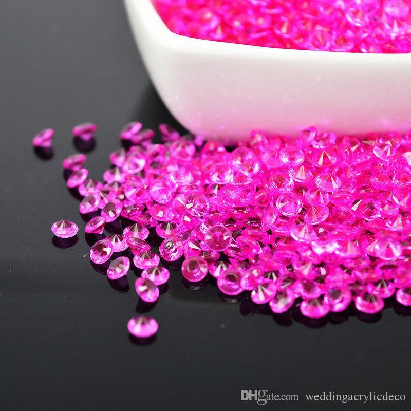 /pack 4.5 MM Düğün Dekorasyon Kristal Akrilik Elmas Boncuk Masa Konfeti Parti Malzemeleri Vazo Deco Birçok Renk Seçeneği