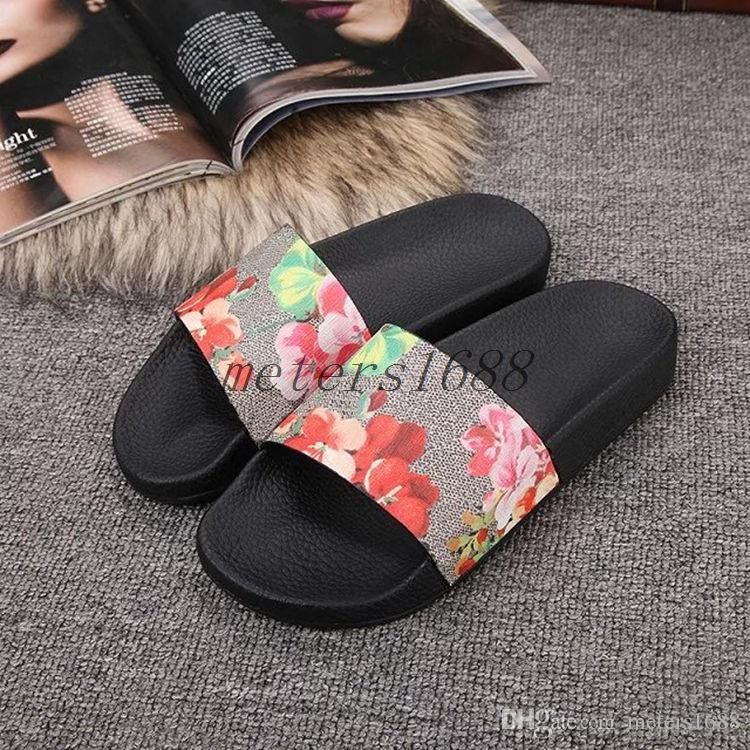 amazon cheap online 2018 New Monogram Slide 18ss Slippers Flats striped Sandal Loafers Canvas Slides Summer Slippers Beach Sandals Wading shoes Free Shipping discount new cheap amazon free shipping pre order e2HZvNwxq