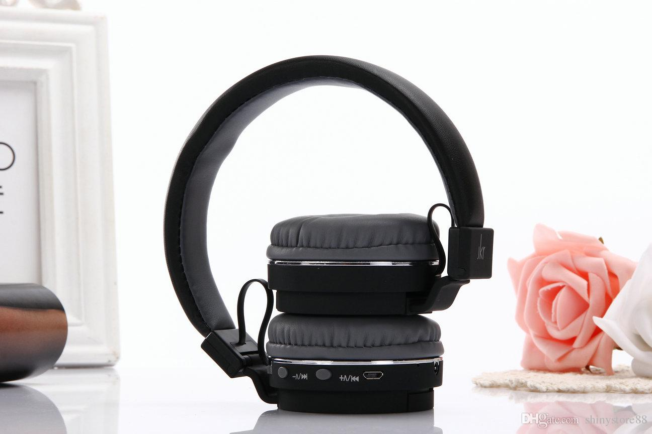 JKR-215B Bluetooth Earphones Headphones Headsets 3 in 1 Function With Mic MP3 FM TF Card Slot For iOS Android MP3 MP