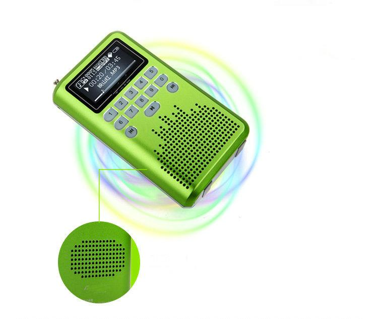 Wholesale-LV290 Mini Portable Rechargeable Radio Digital LED display Stereo SD Card MP3 Music FM Radio Player