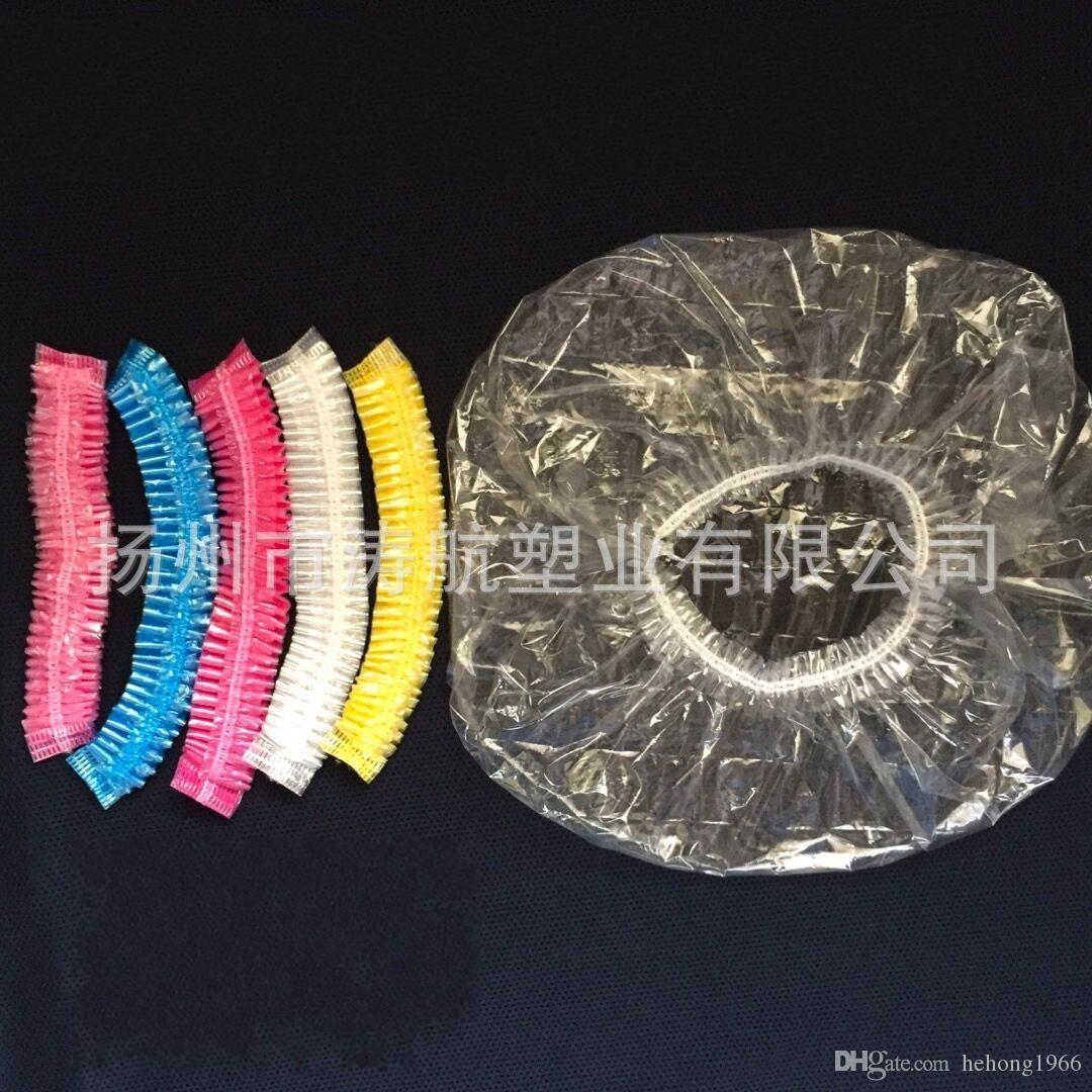 Descartável elástico touca de banho do hotel banheiro do quarto de banho de cabeleireiro chapéu de banho definir elasticidade tampas de cabeça de alta qualidade 0 07th c r