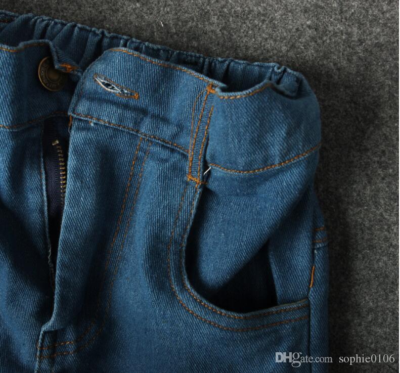 아기 옷 가을 소년 의류 소년 파랑 벗겨진 티셔츠 + 바지 어린이 스포츠 정장 소년 여름 스프링 세트 아기 소년 바지 2017CN B010