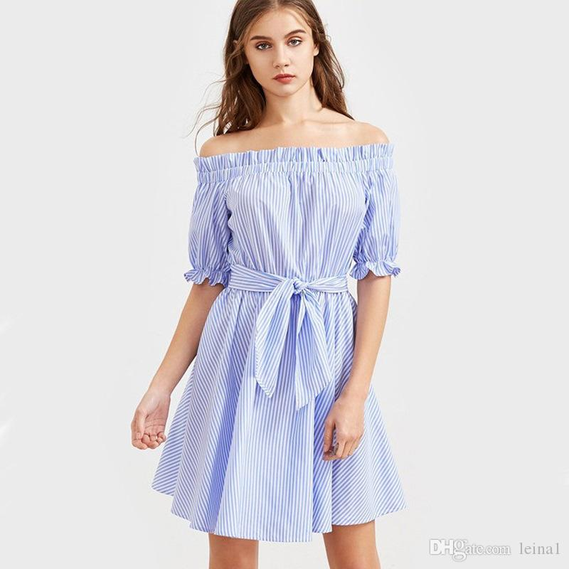 e81620c142093 Off the Shoulder Casual Dress – Fashion dresses