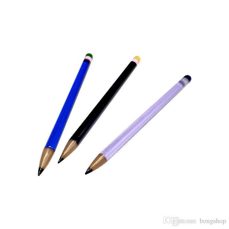 Новый дизайн стеклянных цветных карандашей образный стиль Pyrex стекло dabber инструмент смешивать цвета для стекла Бонг